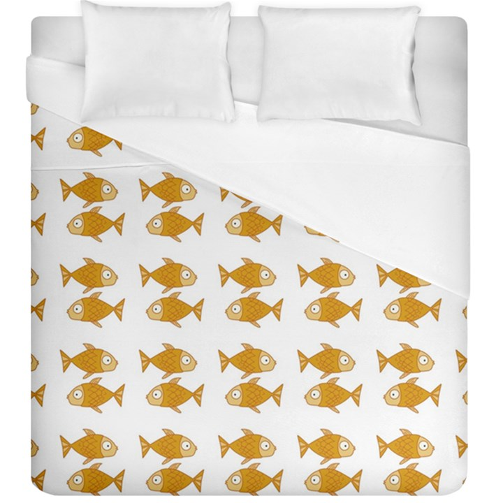 Small Fish Water Orange Duvet Cover (King Size)
