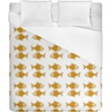 Small Fish Water Orange Duvet Cover (California King Size) View1