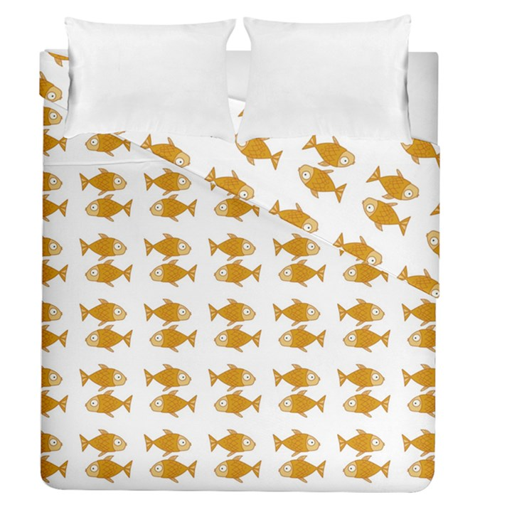 Small Fish Water Orange Duvet Cover Double Side (Queen Size)