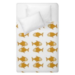 Small Fish Water Orange Duvet Cover Double Side (single Size)