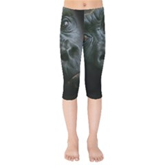 Gorilla Monkey Zoo Animal Kids  Capri Leggings  by Nexatart