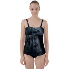 Gorilla Monkey Zoo Animal Twist Front Tankini Set by Nexatart