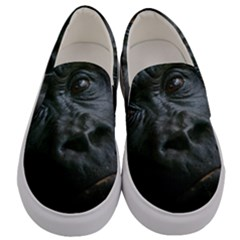 Gorilla Monkey Zoo Animal Men s Canvas Slip Ons