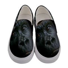 Gorilla Monkey Zoo Animal Women s Canvas Slip Ons
