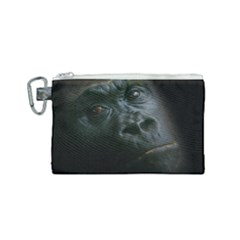 Gorilla Monkey Zoo Animal Canvas Cosmetic Bag (Small)