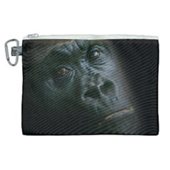 Gorilla Monkey Zoo Animal Canvas Cosmetic Bag (xl)