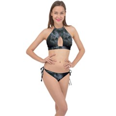 Gorilla Monkey Zoo Animal Cross Front Halter Bikini Set by Nexatart