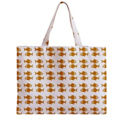 Small Fish Water Orange Medium Tote Bag