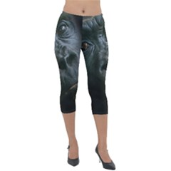Gorilla Monkey Zoo Animal Lightweight Velour Capri Leggings  by Nexatart
