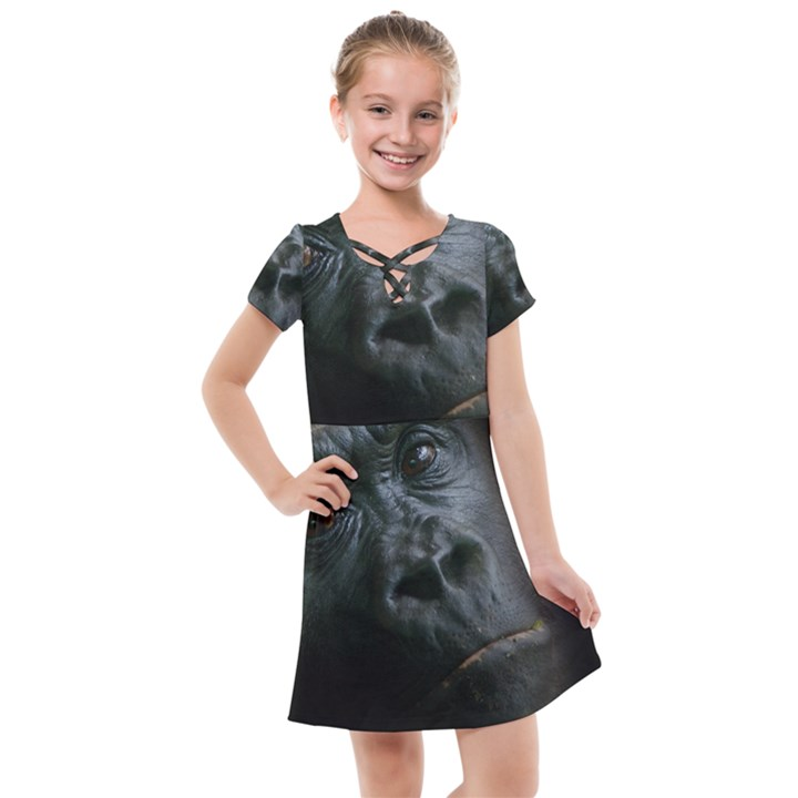 Gorilla Monkey Zoo Animal Kids  Cross Web Dress