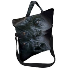 Gorilla Monkey Zoo Animal Fold Over Handle Tote Bag by Nexatart