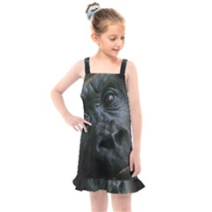 Gorilla Monkey Zoo Animal Kids  Overall Dress