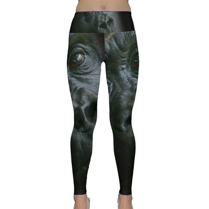 Gorilla Monkey Zoo Animal Lightweight Velour Classic Yoga Leggings