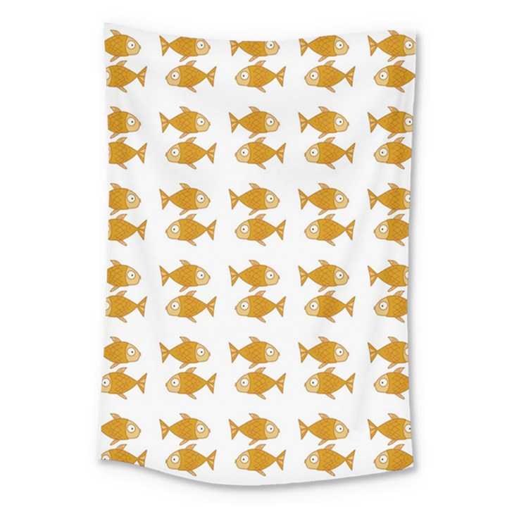 Small Fish Water Orange Large Tapestry