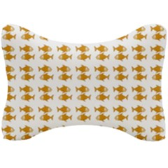 Small Fish Water Orange Seat Head Rest Cushion by Alisyart