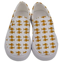 Small Fish Water Orange Men s Canvas Slip Ons