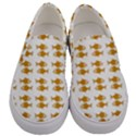 Small Fish Water Orange Men s Canvas Slip Ons View1