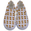 Small Fish Water Orange Kids  Canvas Slip Ons View1