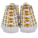 Small Fish Water Orange Kid s Mid-Top Canvas Sneakers View4