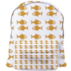 Small Fish Water Orange Giant Full Print Backpack