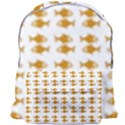 Small Fish Water Orange Giant Full Print Backpack View1