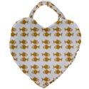 Small Fish Water Orange Giant Heart Shaped Tote View1