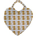 Small Fish Water Orange Giant Heart Shaped Tote View2