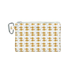 Small Fish Water Orange Canvas Cosmetic Bag (small) by Alisyart