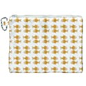 Small Fish Water Orange Canvas Cosmetic Bag (XXL) View1