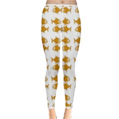 Small Fish Water Orange Inside Out Leggings