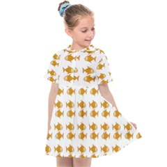 Small Fish Water Orange Kids  Sailor Dress