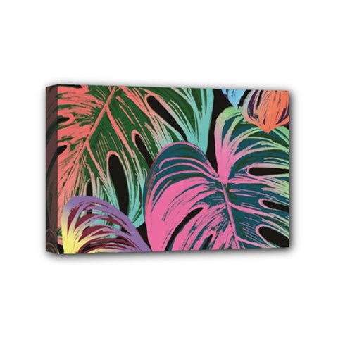 Leaves Tropical Jungle Pattern Mini Canvas 6  X 4  (stretched)