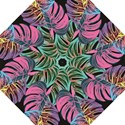 Leaves Tropical Jungle Pattern Straight Umbrellas View1