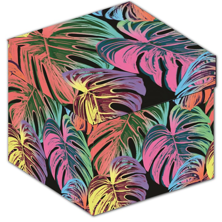 Leaves Tropical Jungle Pattern Storage Stool 12