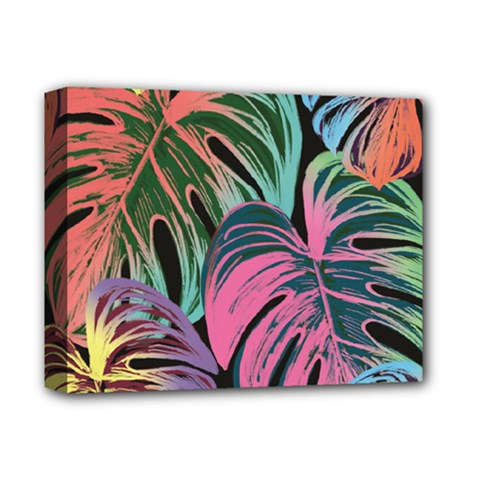 Leaves Tropical Jungle Pattern Deluxe Canvas 14  X 11  (stretched)