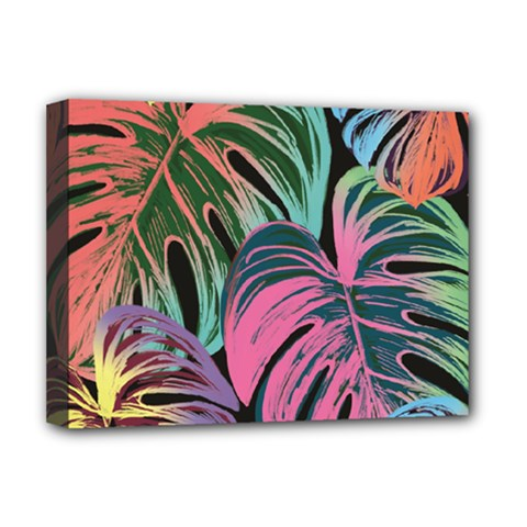 Leaves Tropical Jungle Pattern Deluxe Canvas 16  X 12  (stretched)