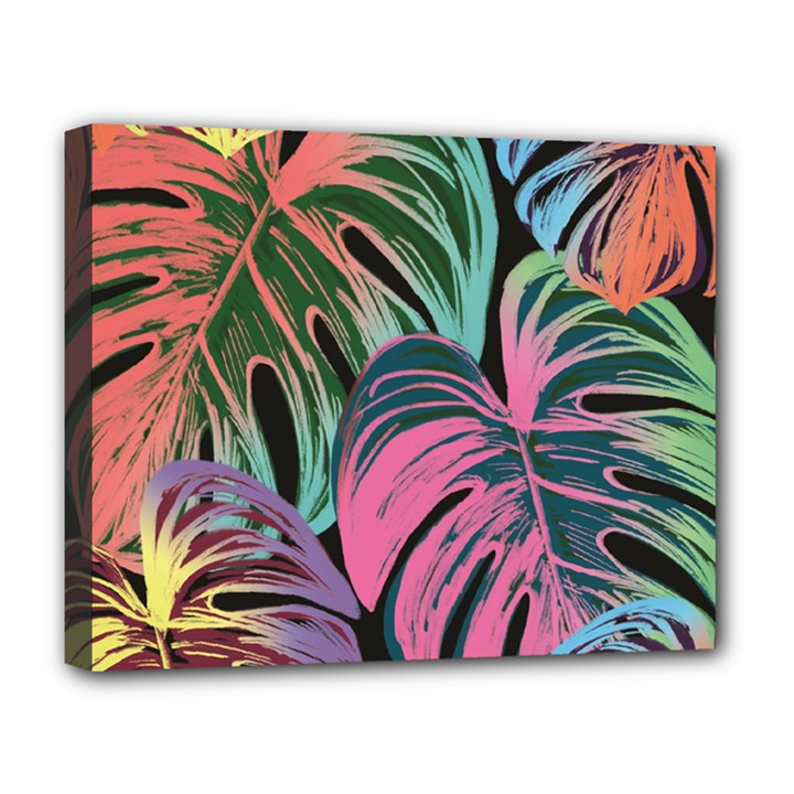 Leaves Tropical Jungle Pattern Deluxe Canvas 20  x 16  (Stretched)