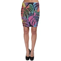 Leaves Tropical Jungle Pattern Bodycon Skirt