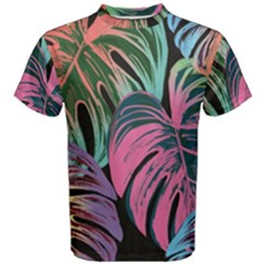 Leaves Tropical Jungle Pattern Men s Cotton Tee