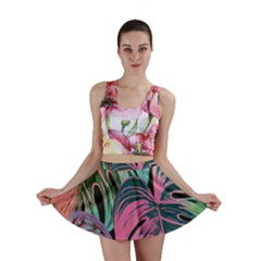 Leaves Tropical Jungle Pattern Mini Skirt