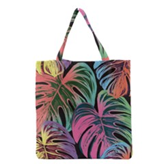 Leaves Tropical Jungle Pattern Grocery Tote Bag