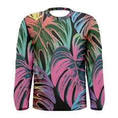 Leaves Tropical Jungle Pattern Men s Long Sleeve Tee