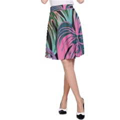 Leaves Tropical Jungle Pattern A Line Skirt