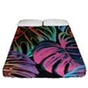 Leaves Tropical Jungle Pattern Fitted Sheet (California King Size) View1