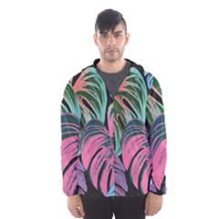 Leaves Tropical Jungle Pattern Hooded Windbreaker (men)