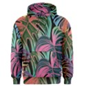 Leaves Tropical Jungle Pattern Men s Pullover Hoodie View1