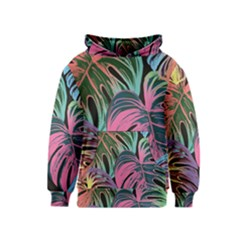 Leaves Tropical Jungle Pattern Kids  Pullover Hoodie