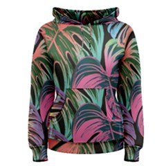 Leaves Tropical Jungle Pattern Women s Pullover Hoodie