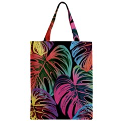 Leaves Tropical Jungle Pattern Zipper Classic Tote Bag
