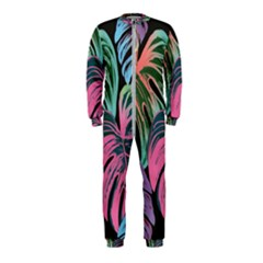 Leaves Tropical Jungle Pattern Onepiece Jumpsuit (kids)